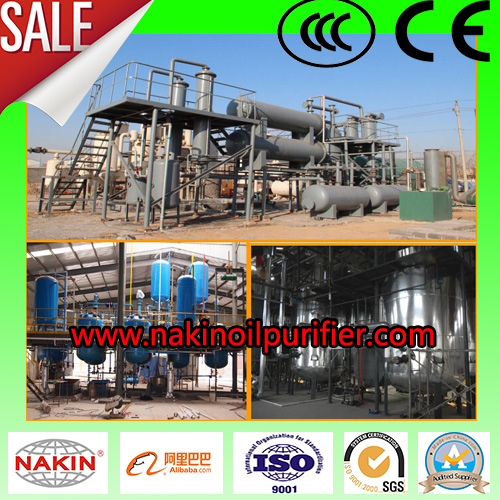 Jzc Waste Engine Oil Distillation Plant