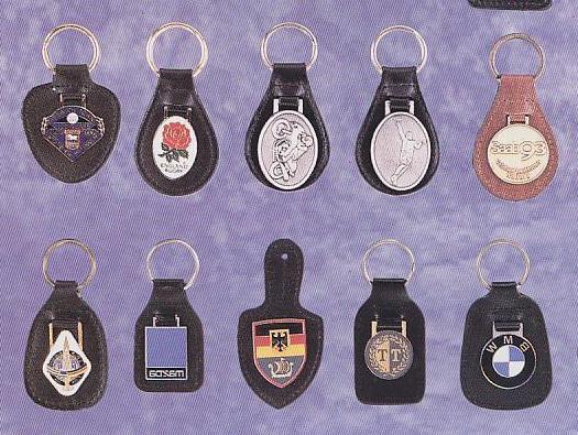 Keychain Keyring Leather Key Tag