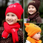Kids Kitted Wool Winter Hats With Ear Flap Casual Side Wear