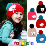 Kids Knitted Wool Winter Hats With Ear Flap