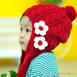 Kids Knitting Wool Winter Hat Arcylic Or Cotton