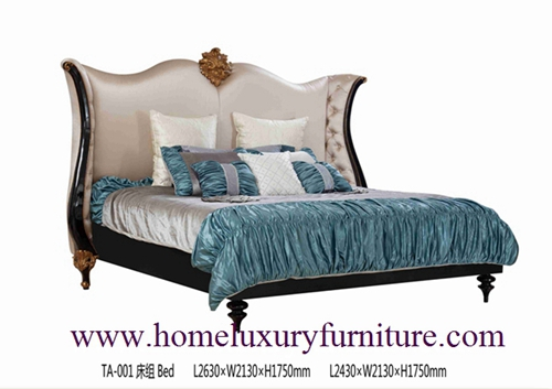 King Beds Classic Bed Royal Luxury Solid Wood Supplier Italy Style Ta 001