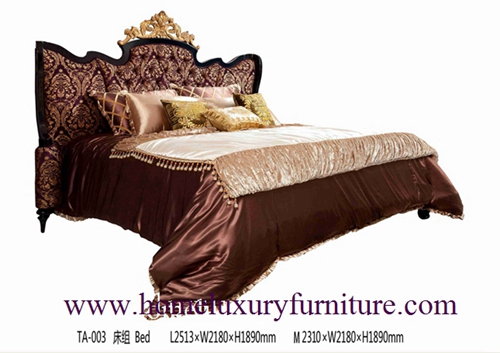 King Beds Europe Classic Bed Royal Luxury Solid Wood Supplier Italy Style Ta 003
