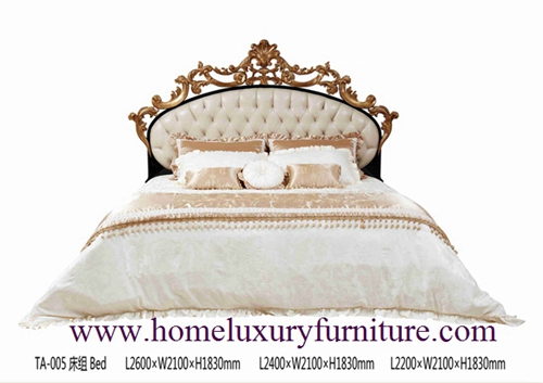 King Beds Europe Classic Bed Royal Luxury Solid Wood Supplier Italy Style Ta 005