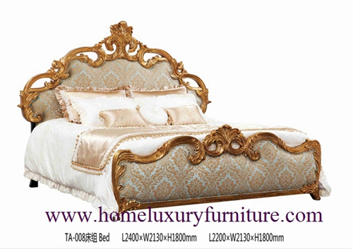 King Beds Royal Luxury Bed Solid Wood Supplier Italy Style Europe Classic Ta 008