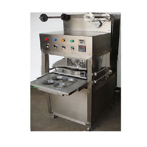 Kis 1 Table Type Semi Automatic Tray Cup Sealing Machine With Gas Filling And Expiration Date Printe