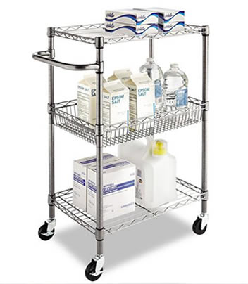 Kitchen Wire Cart For Food And Utensils Storage