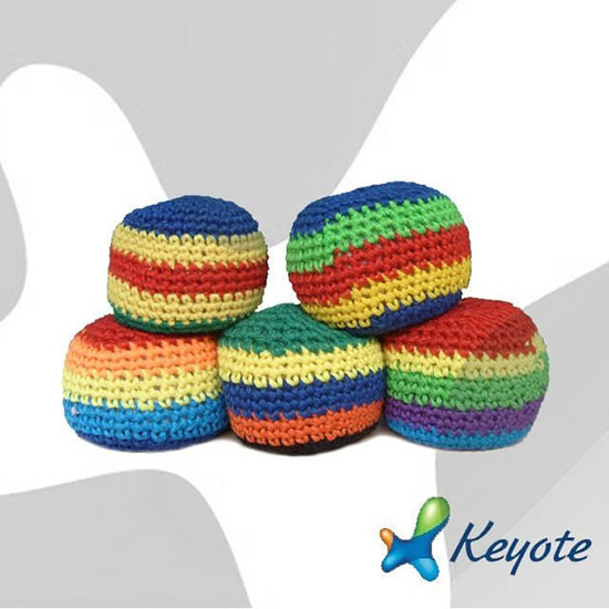 Knitted Hacky Sack Footbag Juggling Ball