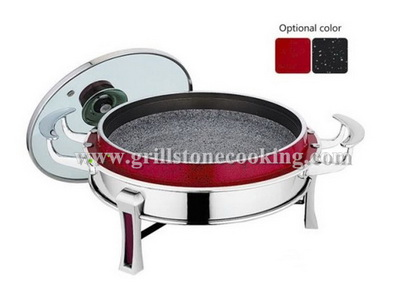 Korean Style Stone Hot Pot With Metal Frame
