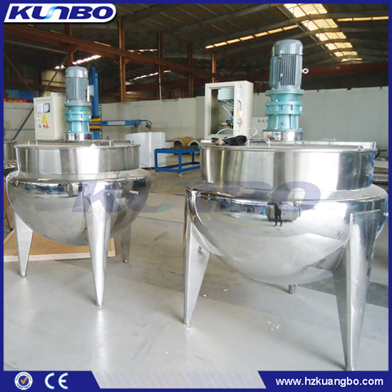 Kunbo Stainless Steel 200l 500l 1000l Food Mixing Equipment Jacketed Bettle