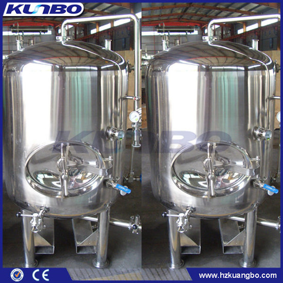 Kunbo Sus 304 316 Cooling Jacket Bright Beer Wine Storage Serving Tank
