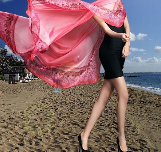 Ladies Large Chiffon Scarf Beautiful Beach Shawl