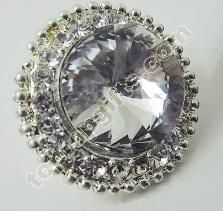 Large Rhinestone Button Garment Ornaments