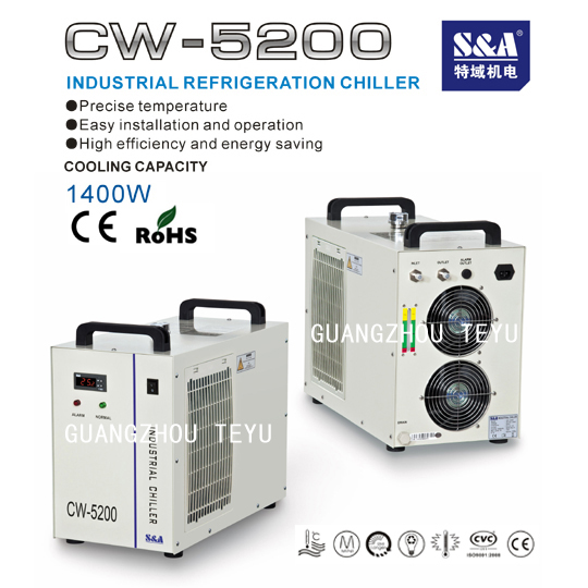Laser Industry Chiller For 130w Co2 Tube