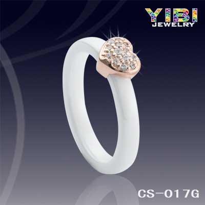 Latest Russian White Wedding Ceramic Rings
