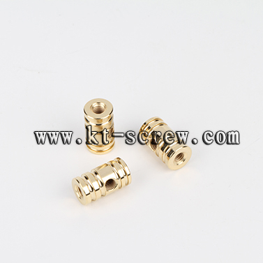 Lathe Nut Of Cross Drilled Hole