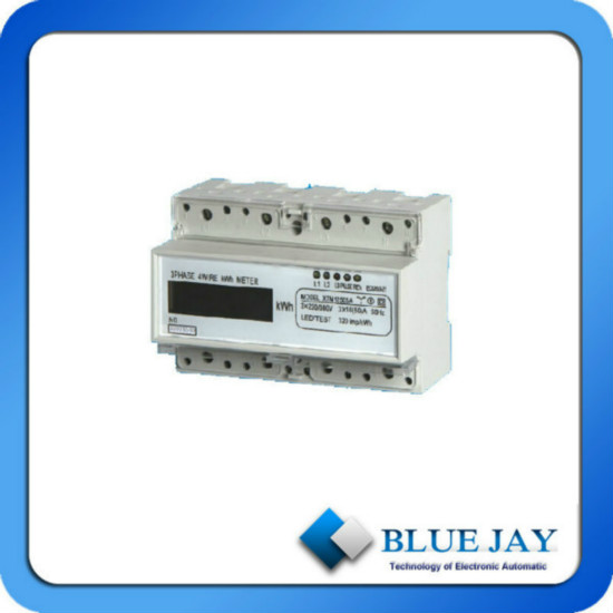 Lcd Display Active Mini Power Meter Three Phase Four Wire Din Rail Intelligent