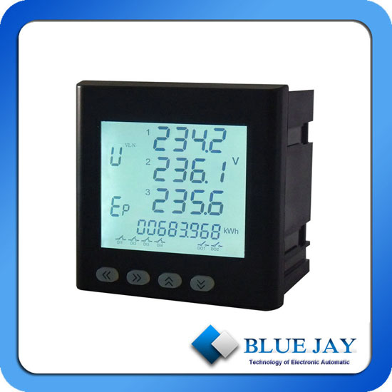 Lcd Display Electricity Energy Power Meter With Rs485 Modbus Port