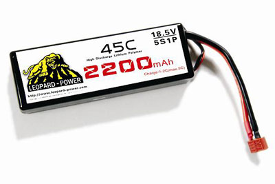 Leapard Power Lipo Battery For Rc Models 2200mah 5s 45c