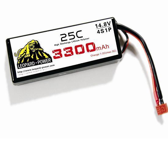 Leapard Power Lipo Battery For Rc Models 3300mah 4s 25c