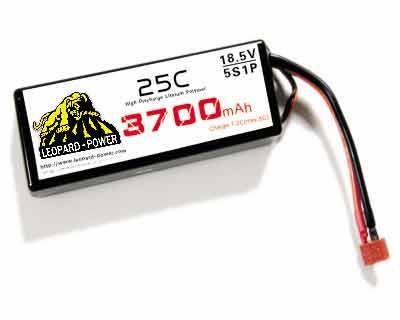 Leapard Power Lipo Battery For Rc Models 3700mah 5s 25c