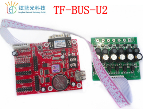Led Controller Card For Bus Taxi Moving Signs Stop Station Information Display Tf U1 U2