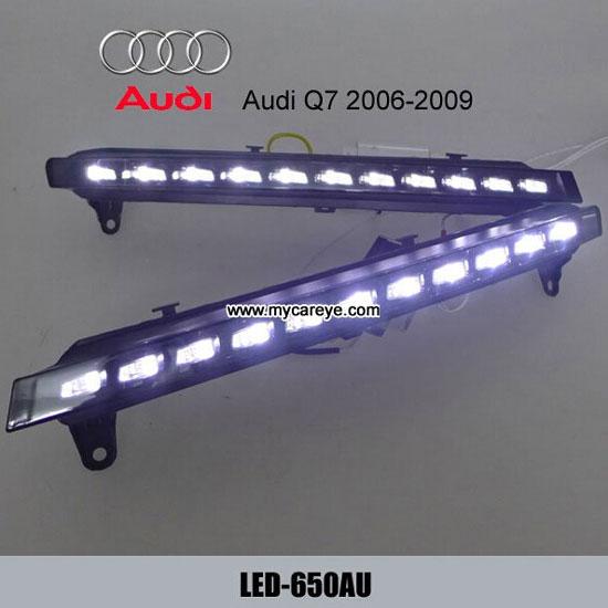 Led Drl Daytime Running Lights Driving Fog Lamp Turn Signal For Audi Q7