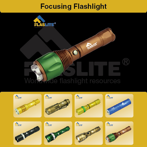 Led Focus Flashlight Zoom Flaslite