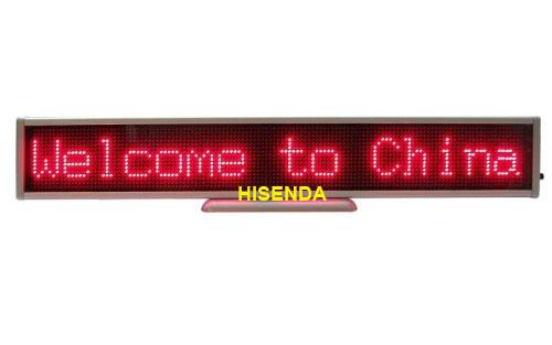 Led Screen Indoor Message Board Signs Billboard 16 128 Pixel Red Color 340 54 12mm