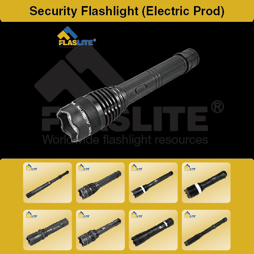 Led Security Flashlight With Electric Prod Flaslite