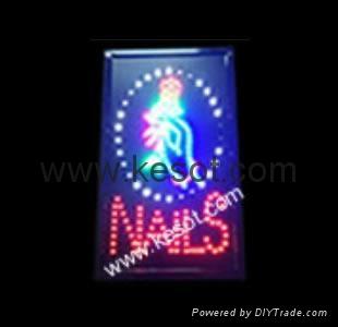 Led Sign Display For Nail Salon Shop Ks Pls002