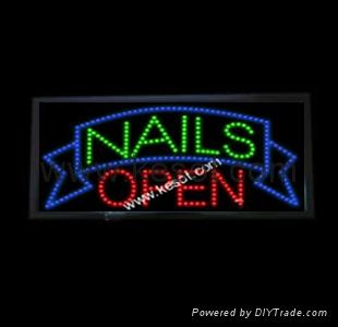 Led Sign Display For Nail Salon Shop Ks Pls007