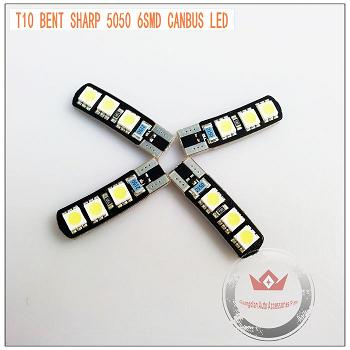 Led T10 Canbus 6smd 5050 Auto Bulb Bent Shape