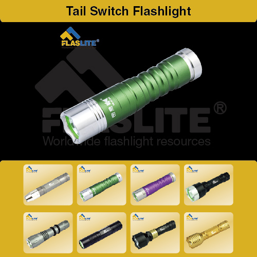 Led Tail Switch Flashlight Tactical Flaslite