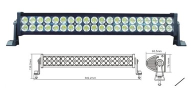 Led Worklight 120w Aluminium 40pcs 3w Light Bar For Jeep Ch 008c