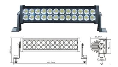 Led Worklight 72w Aluminium 24pcs 3w Light Bar For Jeep Ch 008bb
