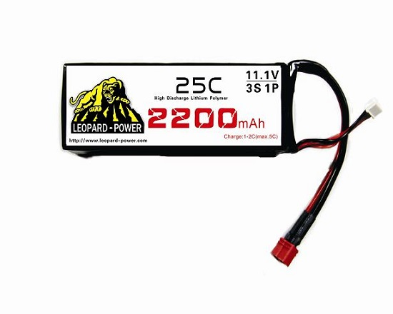 Leopard Power High Rate Lipo Battery For Rc Model 2200mah 3s 25c