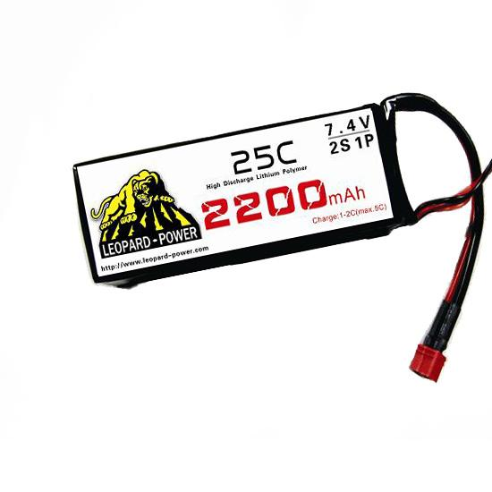Leopard Power High Rate Lipo Battery For Rc Models 2200mah 2s 25c