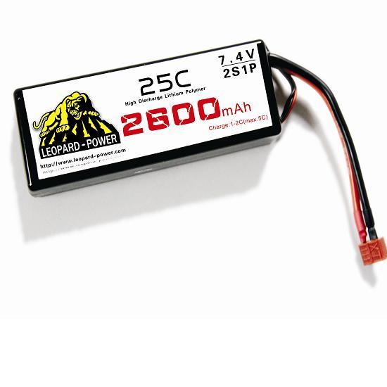 Leopard Power High Rate Lipo Battery For Rc Models 2600mah 2s 25c