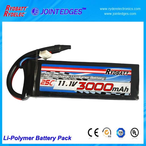Li Polymer Battery Pack 11 1v 25c 3000mah For Airplane Airsoft Gun