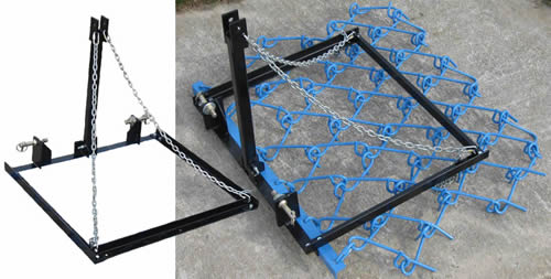 Lift Frame And Wheeled Carrier For Complete Control Of Harrow