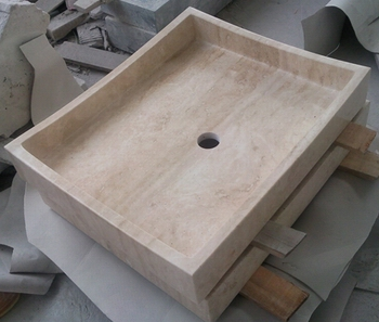 Light Travertine Sink