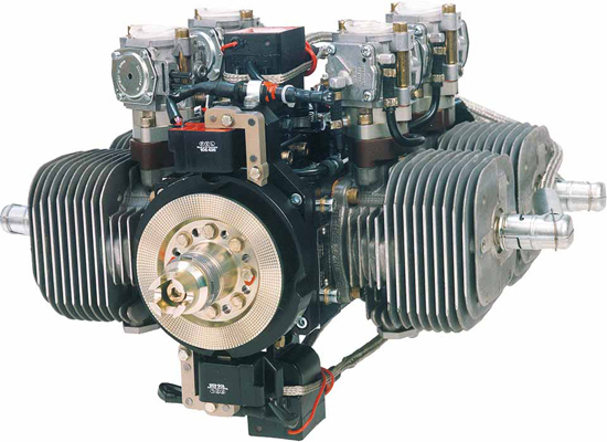 Limbach L550e 37 Kw Four Cylinder Two Stroke Boxer Engine Air Cooling Single Magneto Ignition 4 Carb