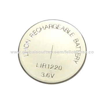 Lir1220 Rechargeable Button Cell Battery With 3 6v For Clock Watch Pocket Counter Good Quality