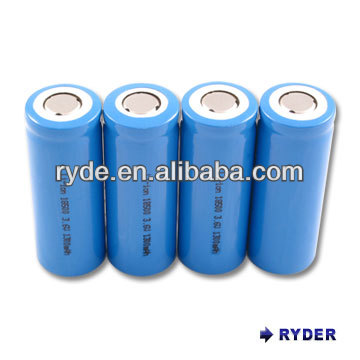 Lithium Ion 18650 3 6v 2000mah Cylindrical Rechargeable Battery