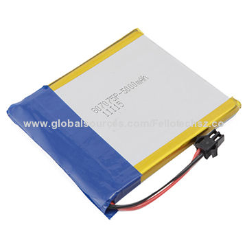 Lithium Polymer Battery Cell 807075 3 7v 5 000mah For Gps Mp3 Mp4 Pda Tablet Pc Medical Device