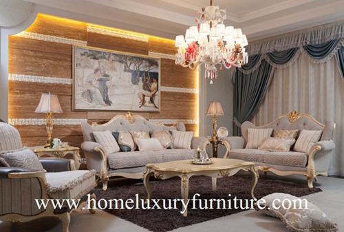 Living Room Sofa Set Italian Classic Company Fabric Upholstery Ff 101