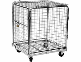 Lockable Wire Containers Ensure The Security Of Goods