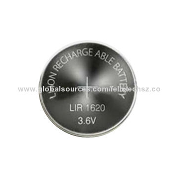Long Cycle Life Rechargeable 3 6v Li Ion Lir1620 Button Cell Battery For Toy Bluetooth China Factory
