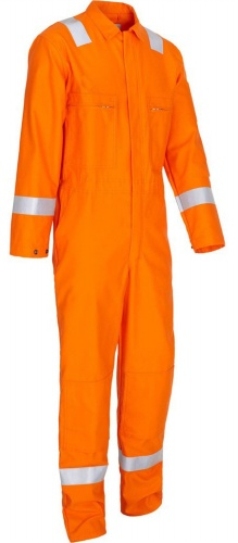 Long Sleeve Cotton Flame Retardant Coverall With Reflective Tape